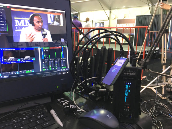 MMA Hour live streaming with Teradek Bond for on-the-go broadcast