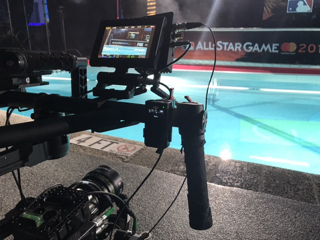 Red Epic Dragon 6K on gimbal with Teradek for MLB All-Star Game