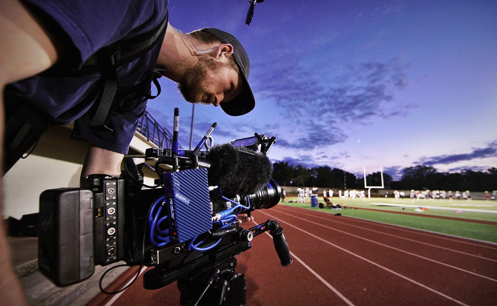 On set of Netflix's Last Chance U with Terry Zumalt and Teradek Serv Pro