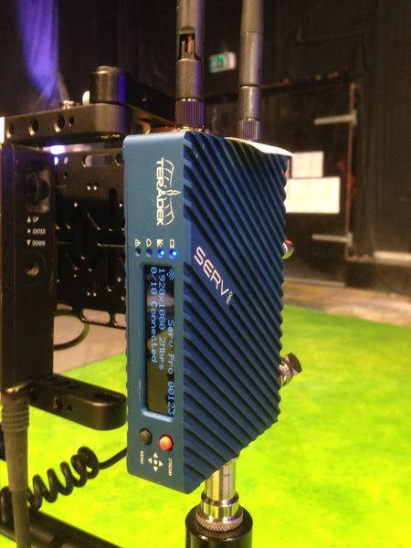 Teradek Serv Pro wireless iOS monitoring on set with CBeebies' new show Biggleton