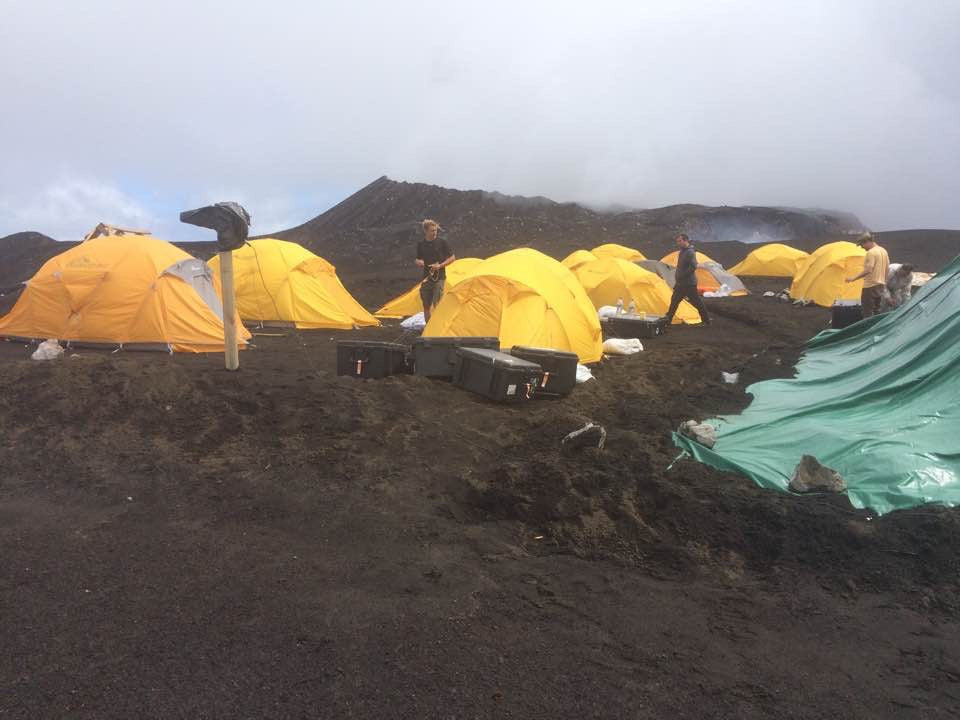 Living conditions on Ambrym volcano to film the shots for Export Development Canada