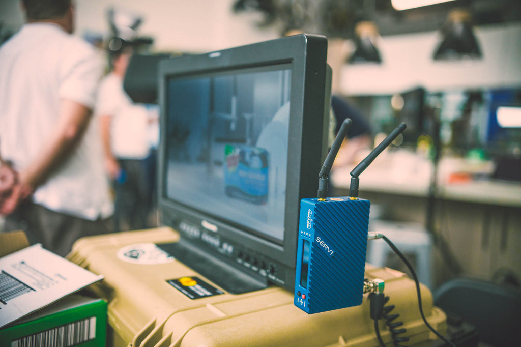 Teradek Serv Pro gives everyone on set their personal wireless monitor with iPhones & iPads