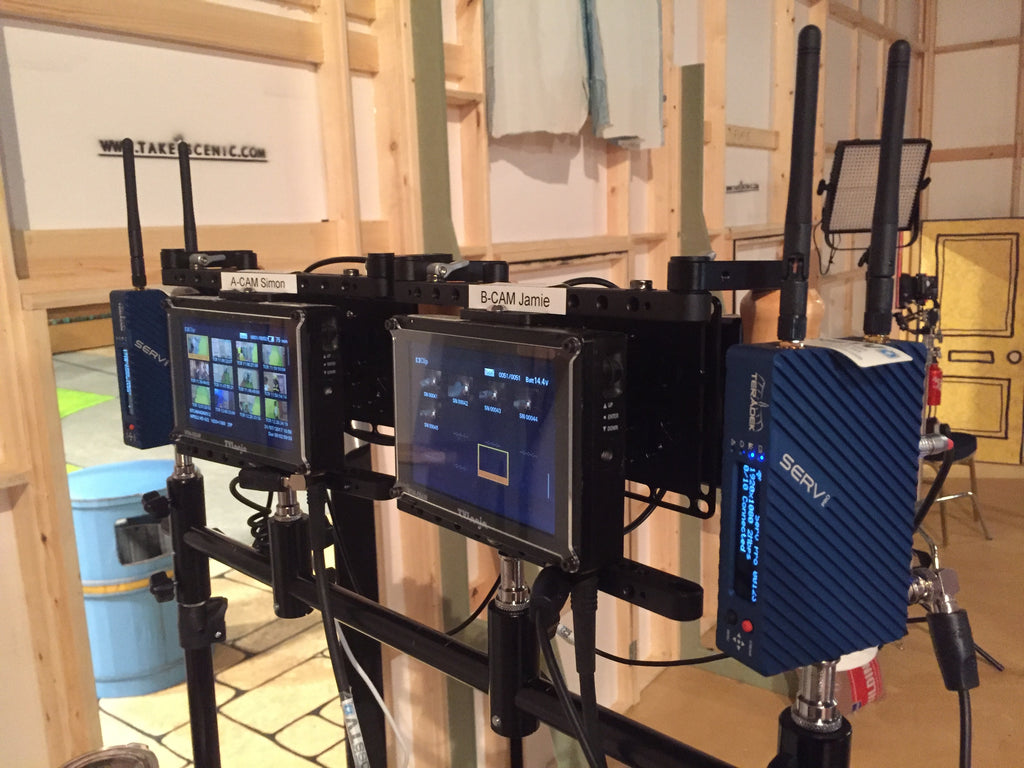 Teradek's Serv Pro on set of Biggleton for Cbeebies, BBC's children's tv network