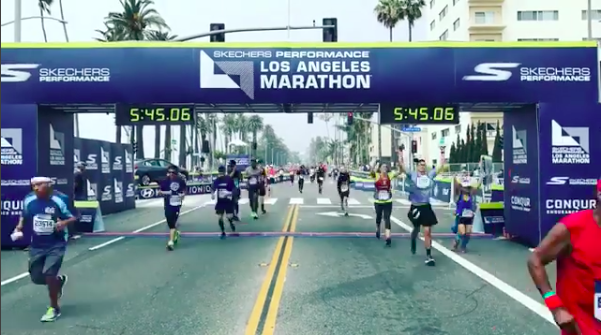 LA Marathon finish line