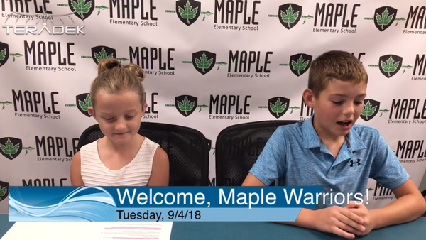 How Maple Elementary Live Streams Morning Announcements for