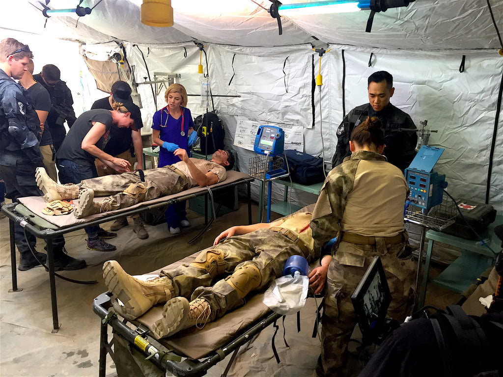 Filming treatment of wounded soldiers with Evoke Inc