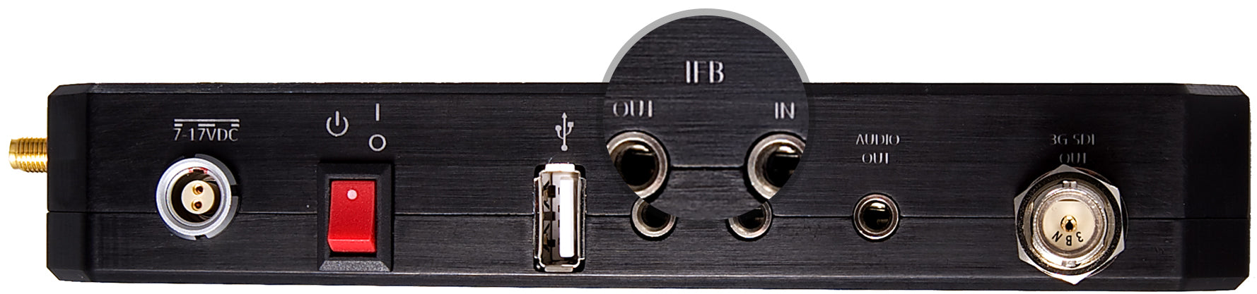 Beam side panel with IFB channel highlighted