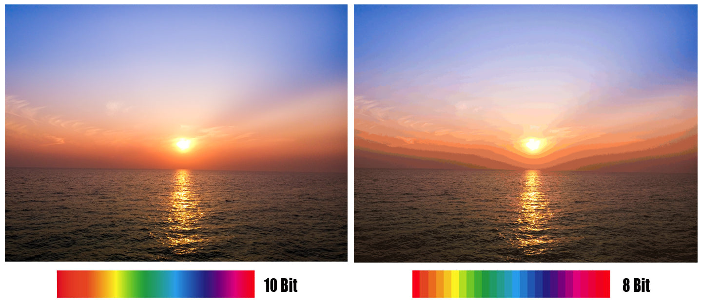 10 bit color correction versus 8 bit