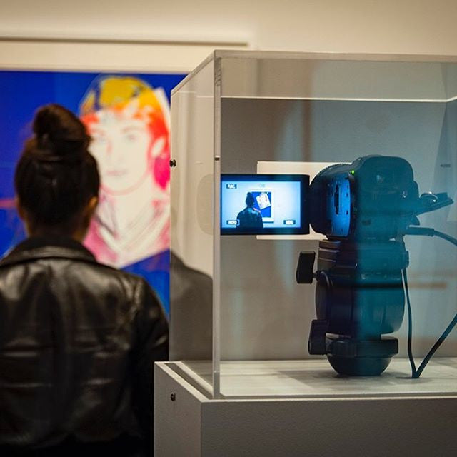 Live streaming art exhibit with Andy Warhol's Wayne Gretzky painting in The Rooms