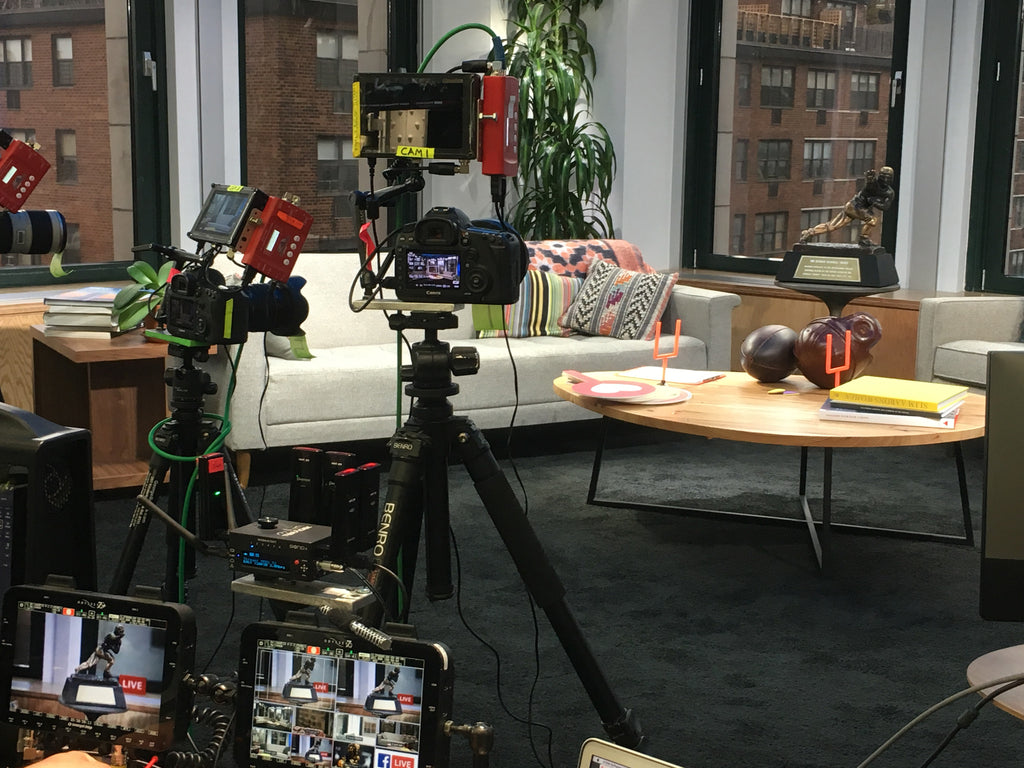 On set in Facebook's Manhattan headquarters