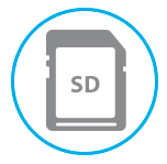 SD Card Logo compatibility for video recording storage on secure digital cards