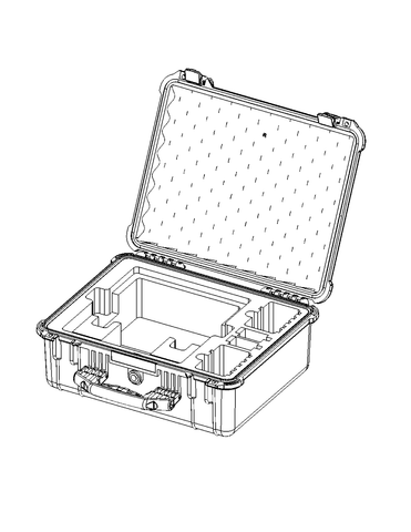 Protective SKB Case: For Bolt 1000/3000 XT/LT up to 4 RXs & Antenna Array