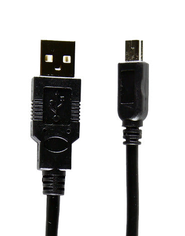 Type A to Mini B USB Cable - 6""