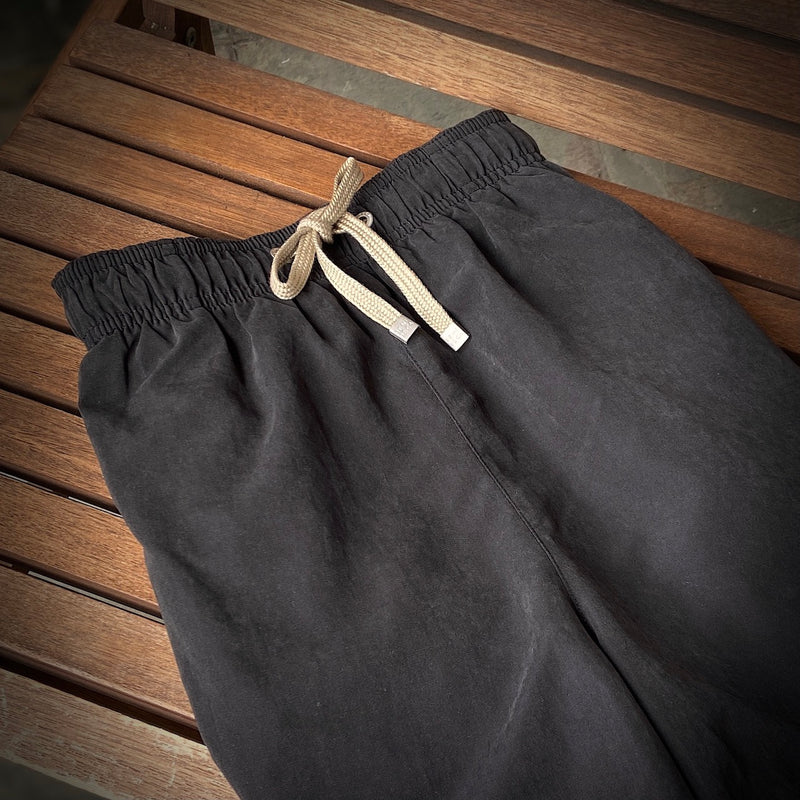 Black Mid-Length Swim Shorts