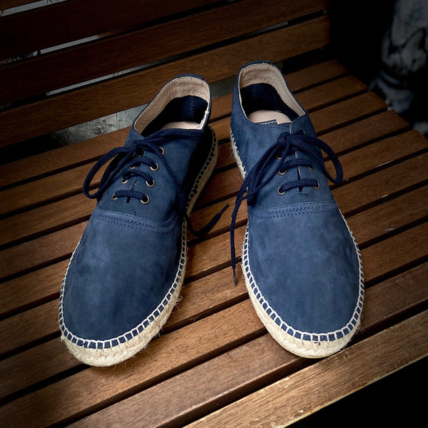 Lupo Lace-up Navy Espadrilles