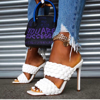 Blanco Braided Mule
