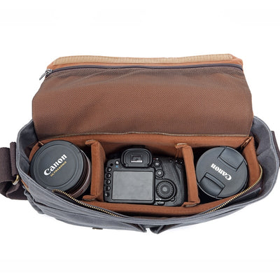 Selene Messenger Bag, DSLR Camera Bag/Backpack - Shutter & Contrast