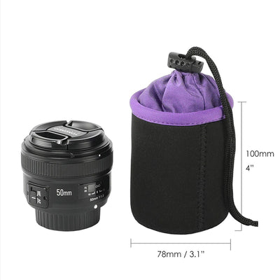 Camera Lens Pouch (4 Pack)