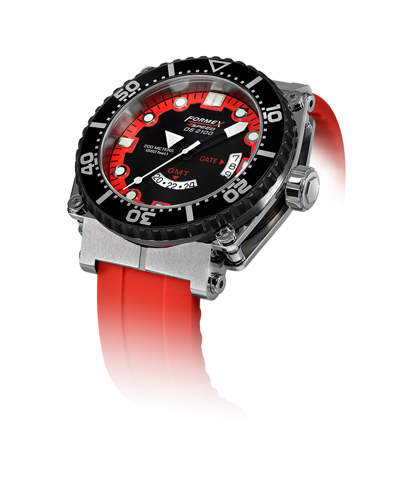 Quartz GMT Red