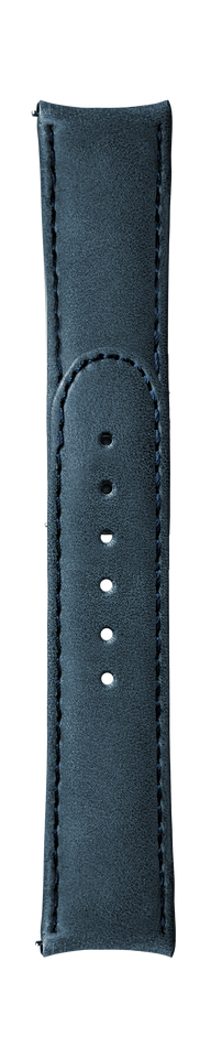 "ESSENCE ""Deployant"" Blue Leather Strap (without clasp)"