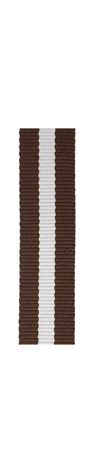 ESSENCE Brown/White NATO strap (with pin buckle)