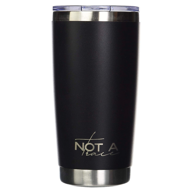 Stainless steel insulated coffee tumbler matte black