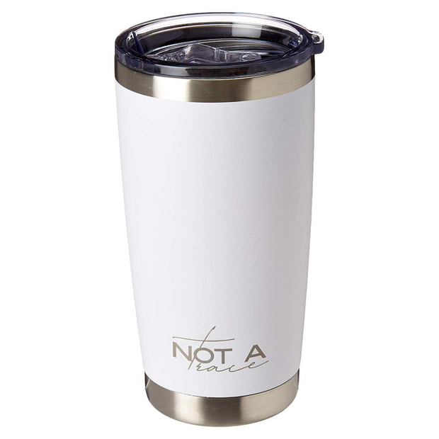 Stainless steel insulated coffee tumbler white