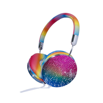 Boogie Beats Rhinestone Wired Headphones
