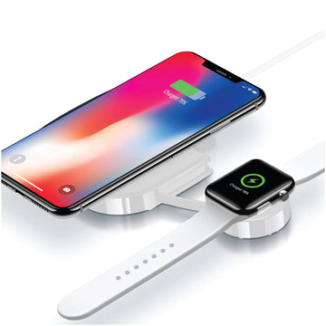 Dual Wireless Charging Station for Phone and Smart Watch