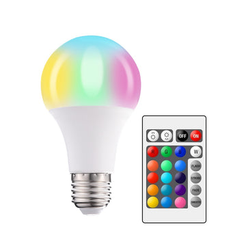 LED Multi-Color RGB Light Bulb with Remote - 5 Watt