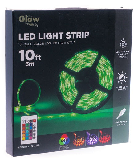 Multi Colored RGB LED Light Strip with Remote-  6 Foot or 10 Foot