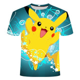 3D Movie Detective Pokemon Pikachu T-shirt For Men Women Tshirts Fashion Summer Casual Tees Anime Cartoon Clothes Cute Co