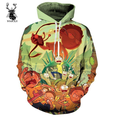 Rick and Morty 3d Printing Hoodies Unisex