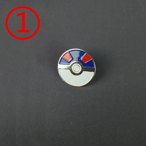 Pokemon Badge Brooch Mini Zinc Alloy Cosplay Badge Pokeball Accessories for Children Christmas Gift Halloween Cosplay Party
