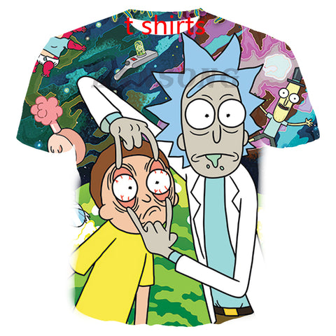 3d print rick and morty t shirt/hoodie/sweats