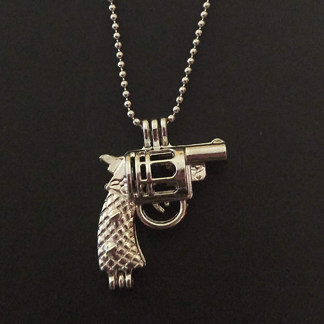 Gun Aromatherapy Necklace