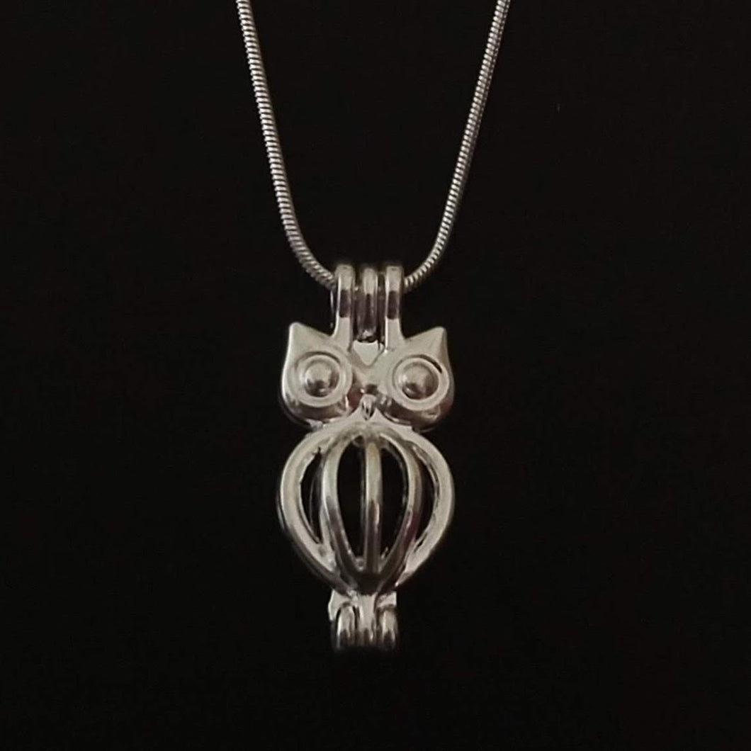 Owl Aromatherapy Necklace