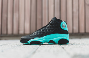 JORDAN AIR JORDAN RETRO 13 'ISLAND GREEN' BLACK MEN #414571-030