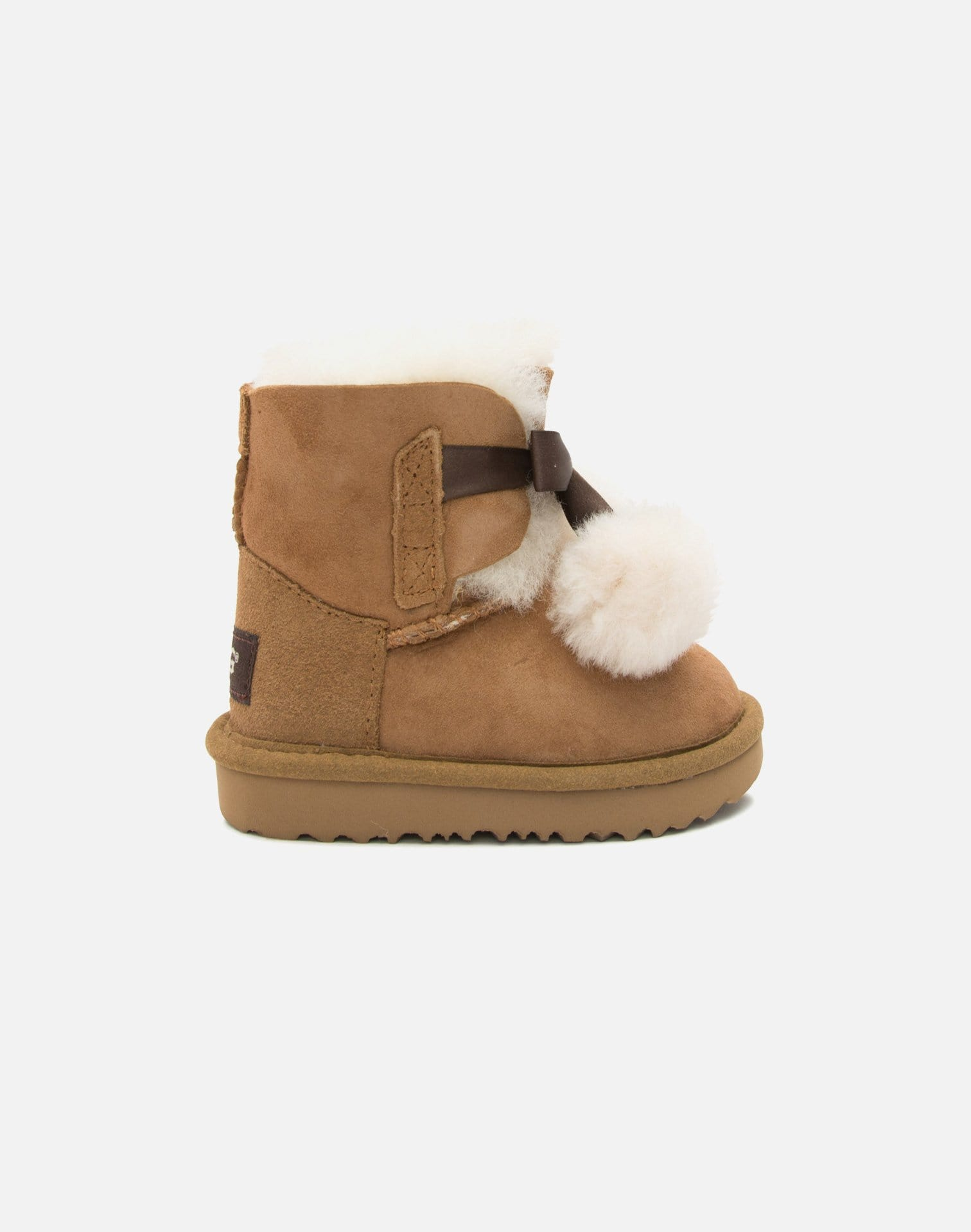 UGG Mini Gita Fur Ball Boots