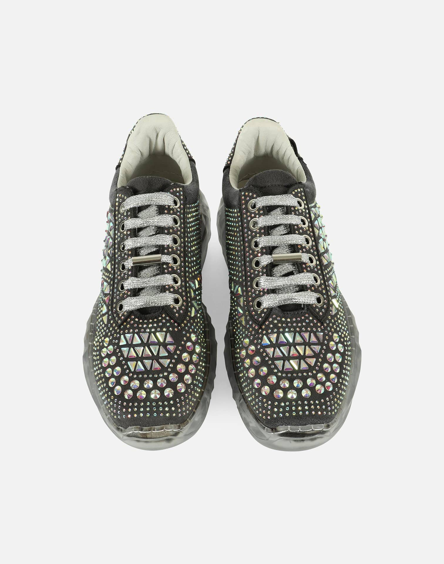 4Ever Women's Crystal Rhinestone Platforms