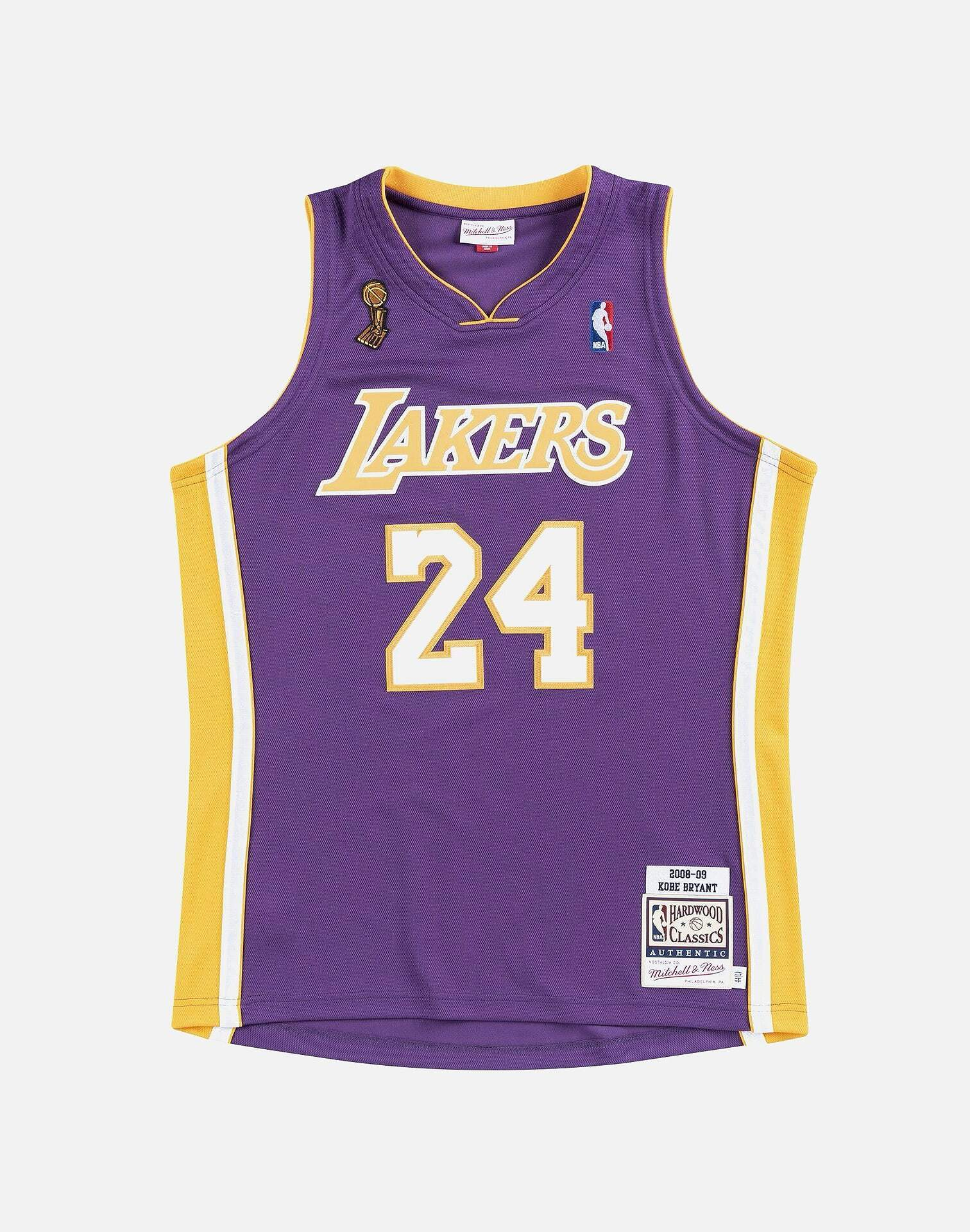 LOS ANGELES LAKERS KOBE BRYANT #24 AUTHENTIC JERSEY
