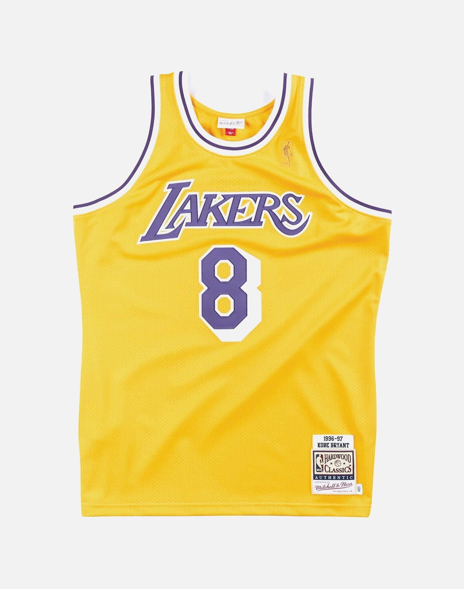 LOS ANGELES LAKERS KOBE BRYANT #8 AUTHENTIC JERSEY