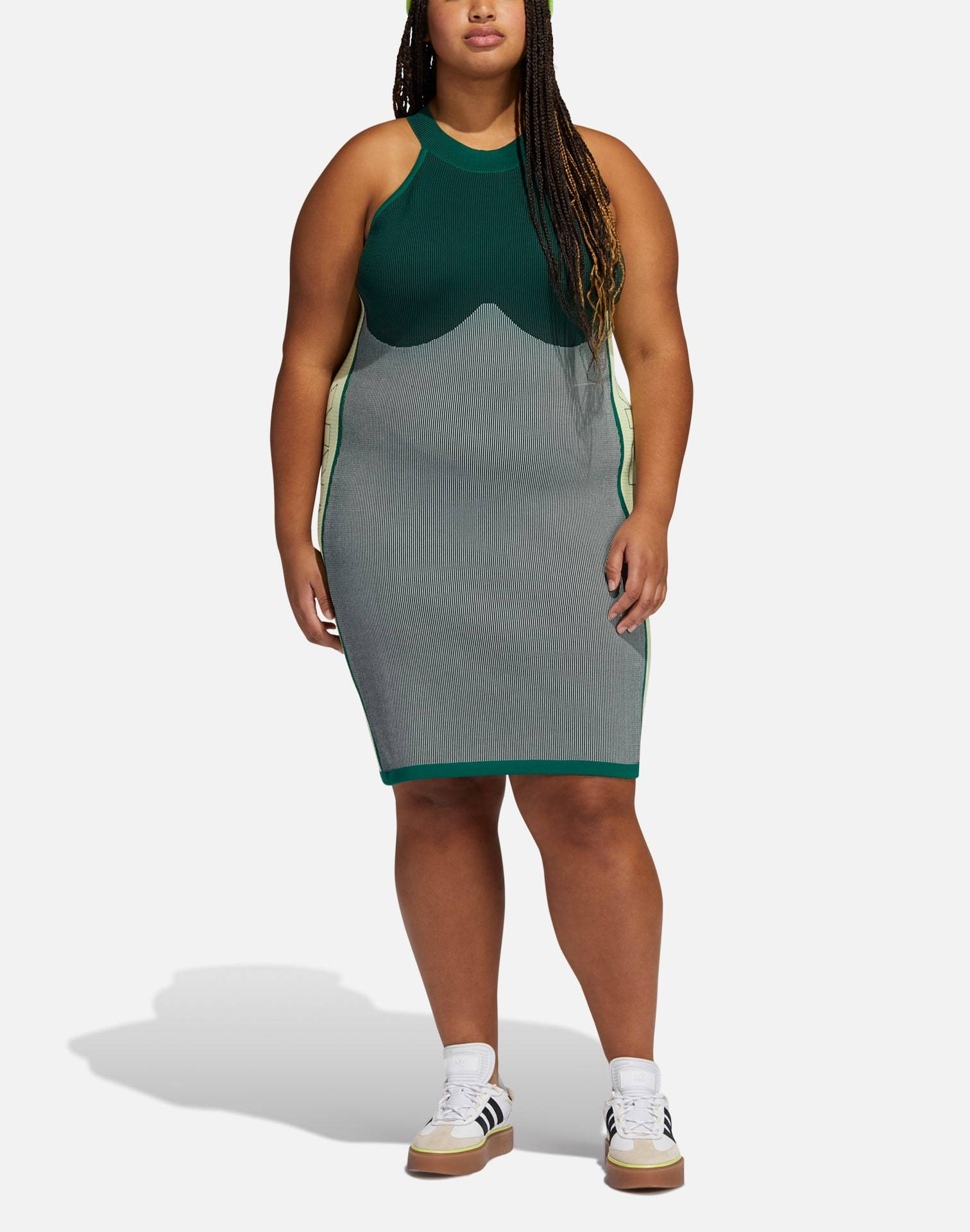Adidas IVY PARK KNIT LOGO DRESS (PLUS SIZE)