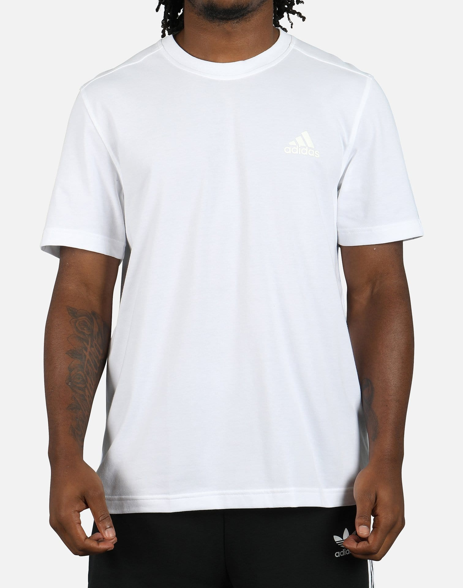 adidas Men's Essential Droptail 3-Stripes Tee