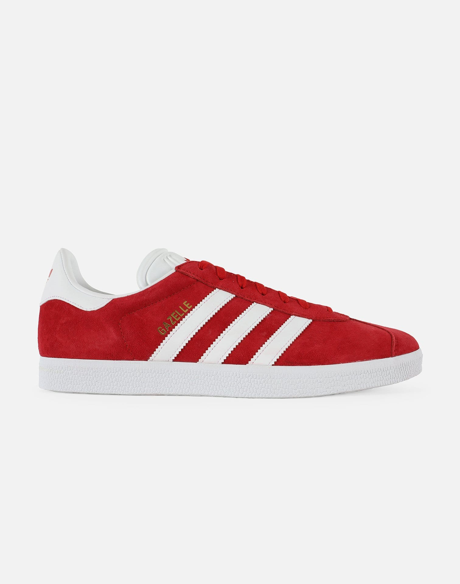 adidas Gazelle (Scarlet/Footwear White-Gold Metallic)