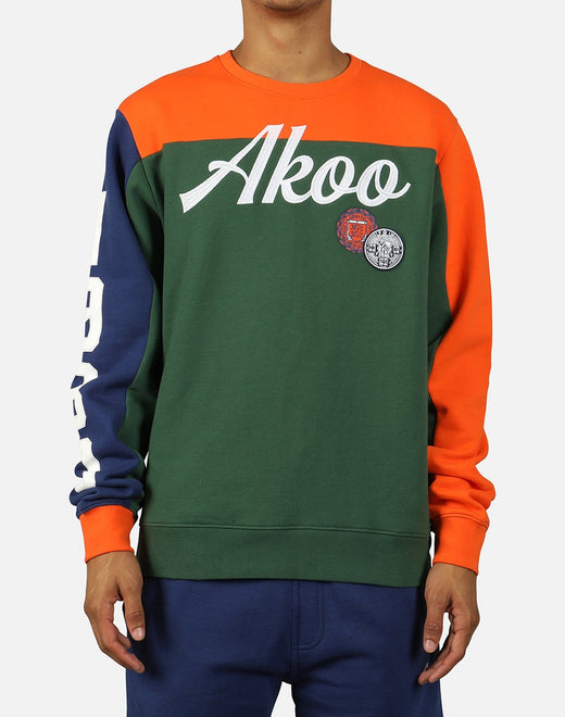Akoo Men's Color Block Long-Sleeve Tee