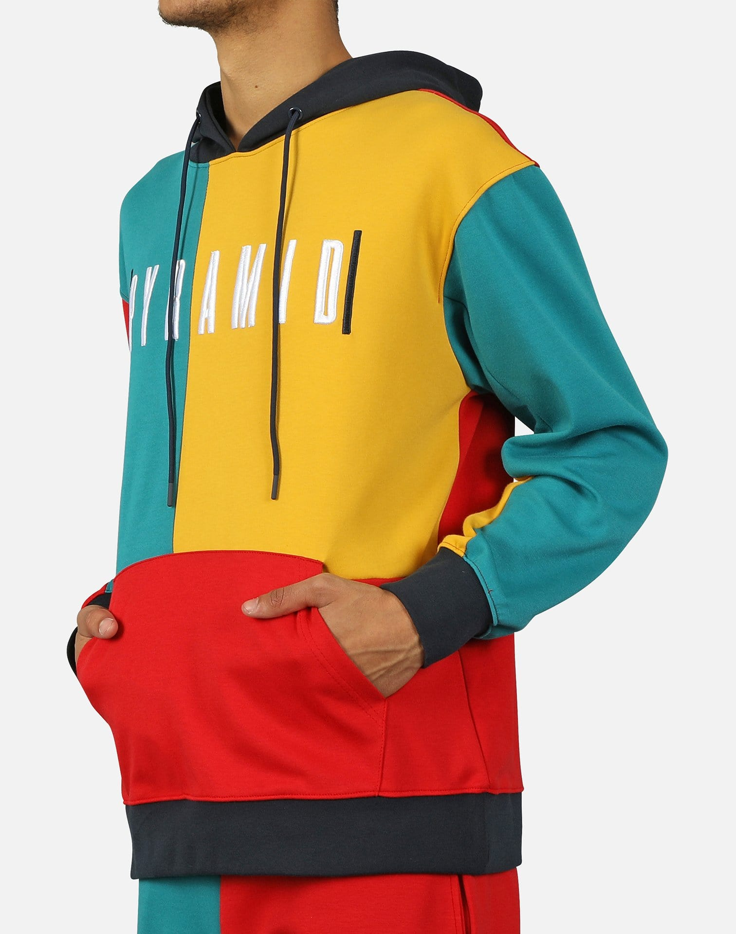 '90S COLORBLOCKED FLEECE HOODIE