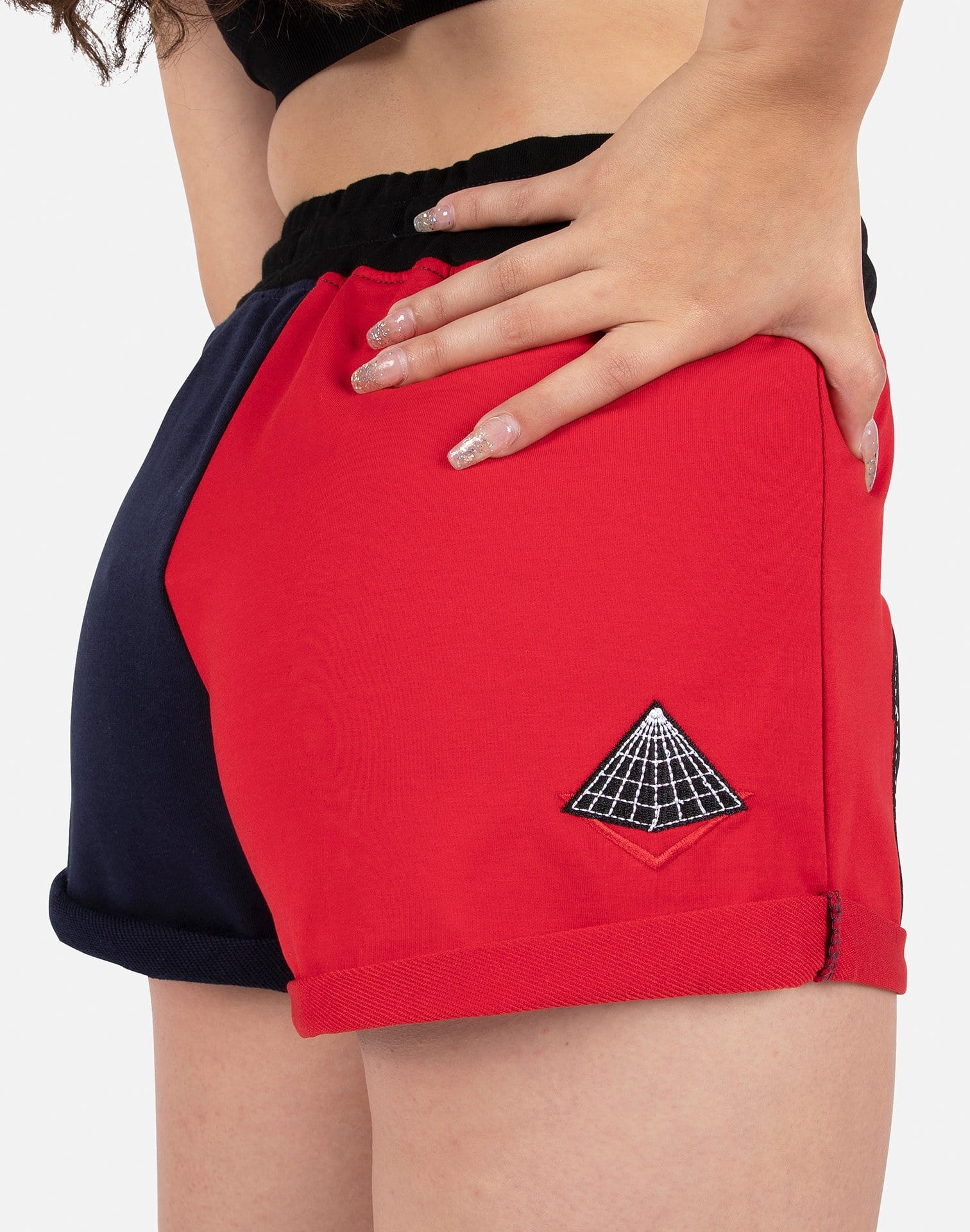 Black Pyramid Women's Split Logo Shorts