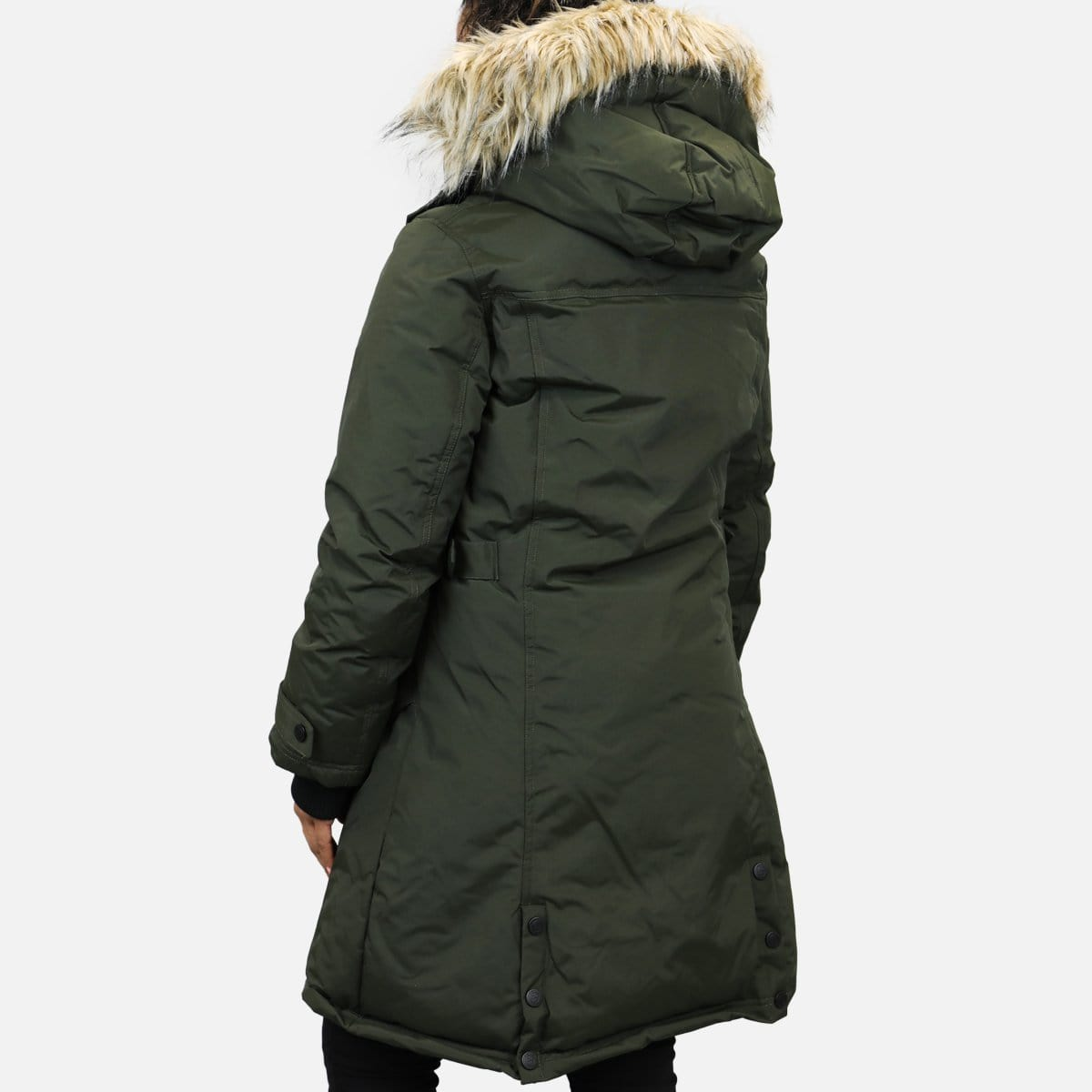 Canada Weather Gear Parka Fur Hoodie (Olive)
