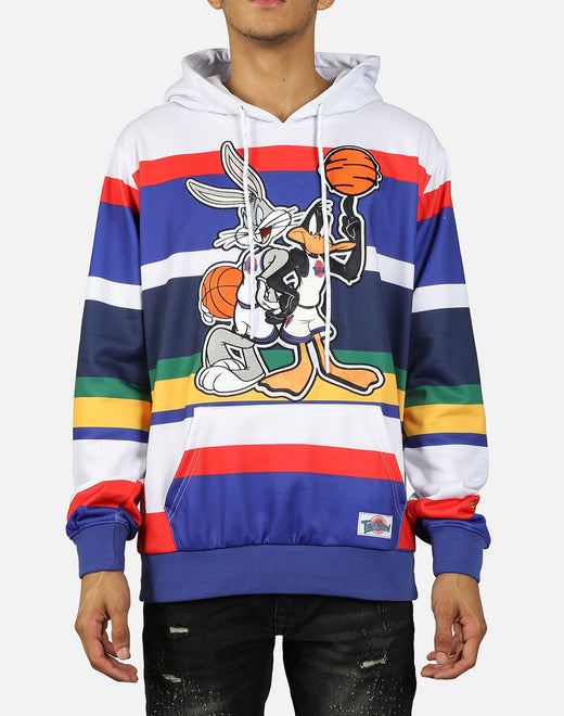 Central Mills Inc. Men's Bugs And Daff Striped Hoodie
